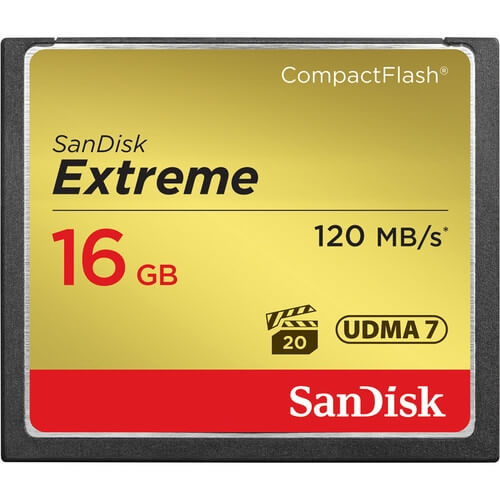 SanDisk 16GB Extreme CompactFlash rental