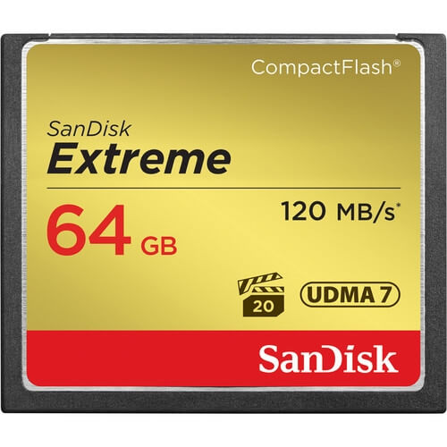 SanDisk 64GB Extreme CompactFlash rental