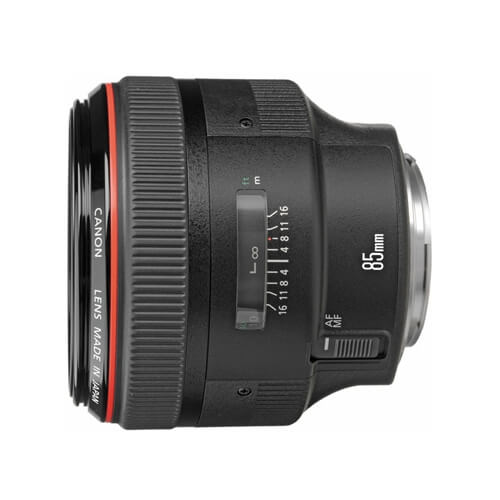 Canon 85mm f/1.2L II rental