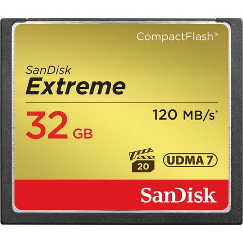 Rent SanDisk 32GB Extreme CompactFlash